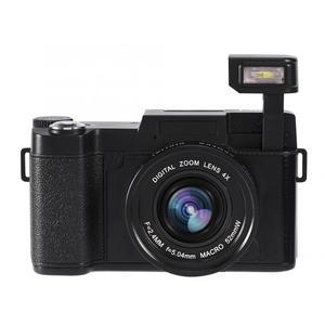 Image 4 - 24MP 풀 HD 1080P 4 배 디지털 줌 카메라 180 학위 회전 스크린 카메라 비디오 Vlog 카메라 캠코더