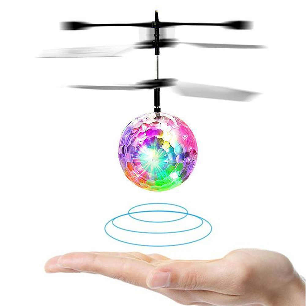 RC Induction Aircraft Flying Ball Luminous Kid's Flight Balls Electronic Infrared Remote Control Toys LED Light Mini Helicopter