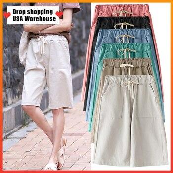 OUSHANG Korean High Waist Shorts Jeans Summer Vintage Short Pants Women Loose Casual Adjust Waist Coffee Color Denim Shorts цена 2017