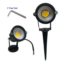 9 Вт 7 Вт 5 Вт 3 Вт светодиодный садовый светодиодный светильник 110 В 220 В COB напольный Ландшафтный Точечный светильник с шипованной основой IP65 садовый двор дорожка светильник для газона