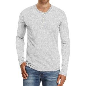Мужские однотонные футболки, Осенние повседневные рубашки с длинными рукавами и пуговицами, рубашки с вырезом лодочкой, тонкие модные топы, Мужская одежда, наряды