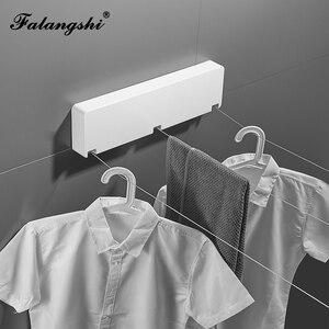 Image 2 - Nuovo Arrivo Linea di Vestiti Asciugatrice Bagno Stendino Corda del Filo di 3 linee Clothesline Rack di Lavanderia Asciugatrice Triplo Strato WB3012