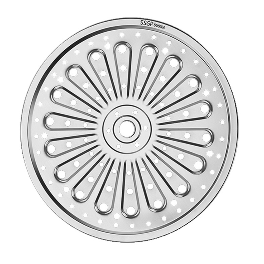 For Pressure Cooker Toast Baking Egg Steamer Stainless Steel Cookware Round Restaurant Steam Plate Canning Rack Rust Resistant