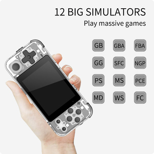 """Image 2 - Q90 Handheld Video Game Console Retro Games 3 """"HD IPS Screen Kids Gift 16 Simulator Support PS1 3D games Open Source Dual System"""