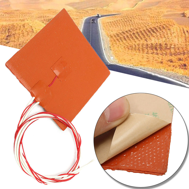 1pc 120*120mm Silicone Rubber 120W 12V Heating Pad For 3D Printer Heated Bed Heating Pads Heater Accessories