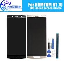 ЖК дисплей + дигитайзер сенсорного экрана + рамка в сборе, 100% Оригинальный Новый ЖК дисплей + дигитайзер сенсорного экрана для HOMTOM HT70 + Инструменты