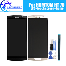 HOMTOM HT70 شاشة الكريستال السائل محول الأرقام بشاشة تعمل بلمس الإطار الجمعية 100% الأصلي جديد LCD تعمل باللمس محول الأرقام ل HOMTOM HT70 أدوات
