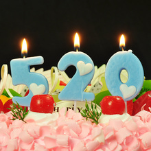 1Pcs 0-9 Number Cake Candle Birthday Party Supplies Topper Anniversary Numbers Age Decorations