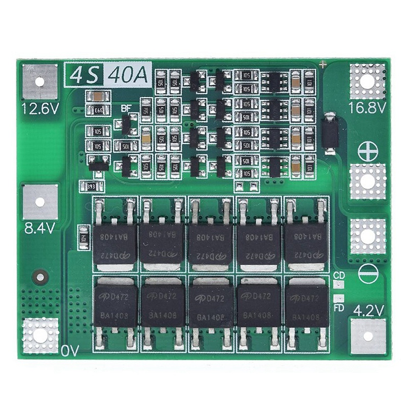 4S 40A Li-Ion Lithium Battery 18650 Charger Pcb Bms Protection Board for Drill Motor 14.8V 16.8V Lipo Cell Module image