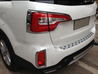 기아 Sorento 들어 2013 2014 크롬 후면 테일 라이트 램프 커버 몰딩 트림 4pcs 무료 배송|light trim|tail light coverstrim cover -