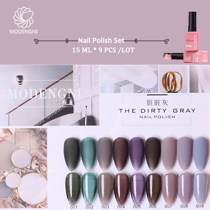 Dirty Grey Nail Gel Polish Set 15ml For Nail Salon Manicure Soak Off LED UV Gel Lacquer Long Nail Enamel Gel Varnish Nail Polish