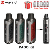 New Electronic Cigarette Vaptio PAGO Kit 4.3ml Cartridge & 1500mAh Battery 45W Box mod vaporizer Pod E-cig vape Pod Mod Kit