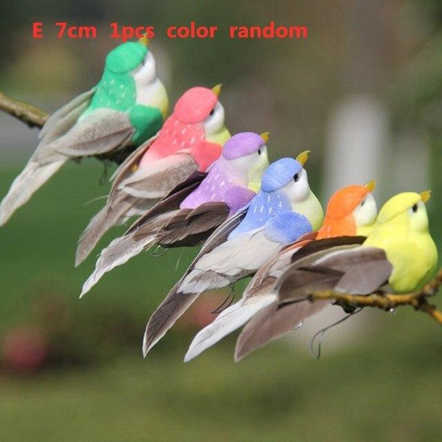 Mini Fake Birds Artificial Feather Foam Doves Wedding Decoration Venue Ornament Bird Model Home Garden Ornament DIY Party Use 6