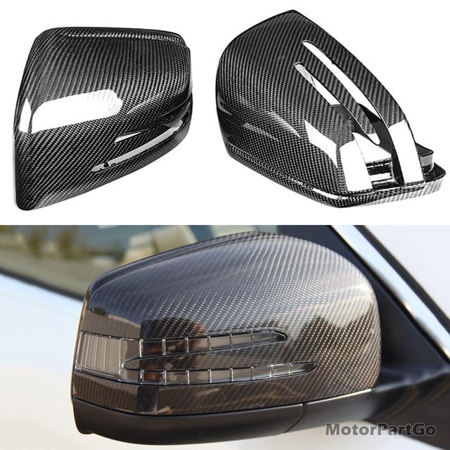 Real Crabon Fiber Mirror Cover Exchange original 1 pair for Mercedes Benz ML Class W166 GL GLS X166 GLE W166 1