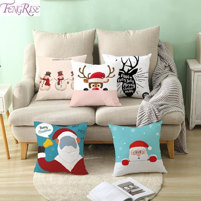 FENGRISE Merry Christmas Decor For Home Santa Claus Elk Pillowcase Christmas Ornament 2019 Navidad Xmas Gift Happy New Year 2020 2