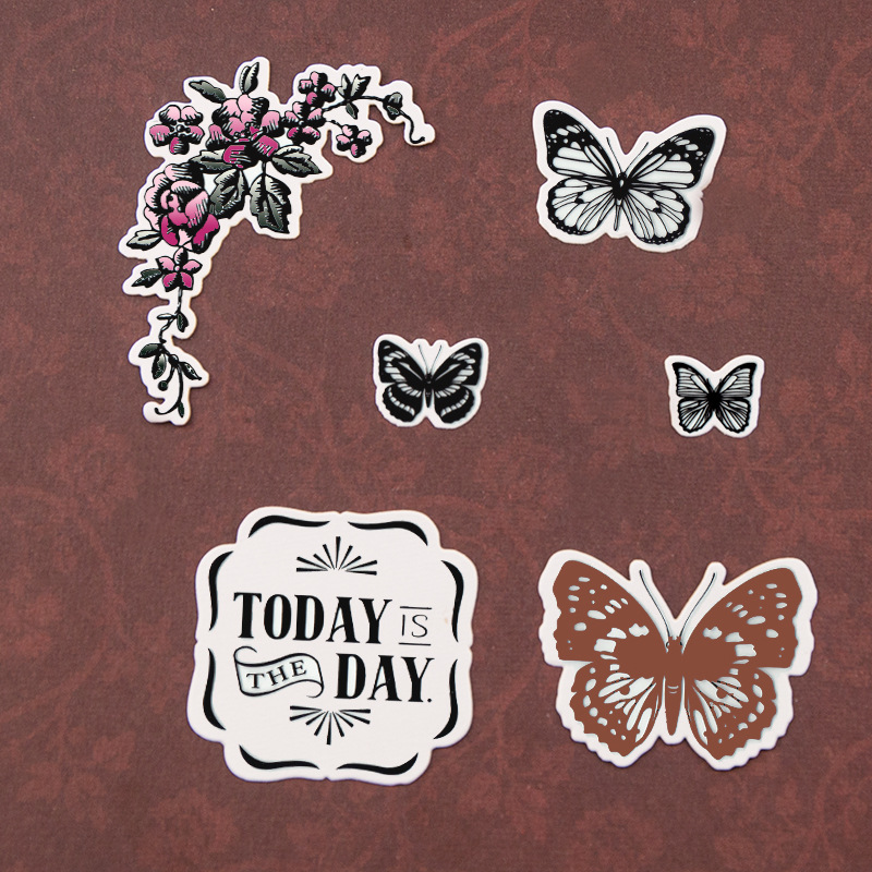 Butterflies Transparent Clear Silicone Stamp for DIY scrapbooking album Decor..