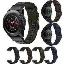 26/22mm Nylon Watchband for Garmin Fenix 5X 6X 3 HR Mk1 S60 935 945 Wristband Quick Fit Wristband Strap Replacement Bracelet