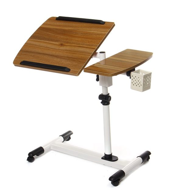 Adjustable Angle And Height Rolling Desk Stand  5