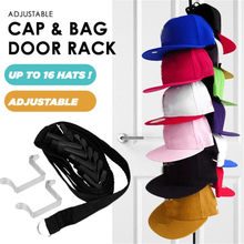 Şapka çanta elbise organizatör asılı kapak rafı ayarlanabilir kap raf çantası şapka tutucu kapı arka dolap kanca tutucu uzay tasarrufu