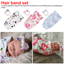 Newest Arrivals Hot Infant Newborn Toddler Baby Swaddle Blanket Baby Sleeping Swaddle Muslin Wrap Headband Children недорого