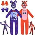 Детский маскарадный костюм на Хэллоуин «пять ночей у Фредди», комбинезон для косплея fnaf, аниме Фредди, 2021
