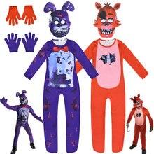 2021 fantasia traje de halloween para crianças maiyaca cinco noites no freddy macacão cosplay fnaf freddy anime