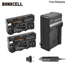 Bonacell 3000mAh NP-F550 NP F550 NPF550 Battery+Charger for Sony NP-F330 NP-F530 NP-F570 NP-F730 NP-F750 Hi-8 GV-D200 L50 цена и фото