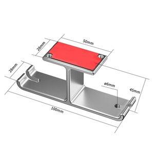 Image 5 - Vococal אוזניות כפולה קולב עמיד אלומיניום אוזניות וו בעל קל להתקין 2 ב 1 אוזניות הר תחת מעמד שולחן מדף