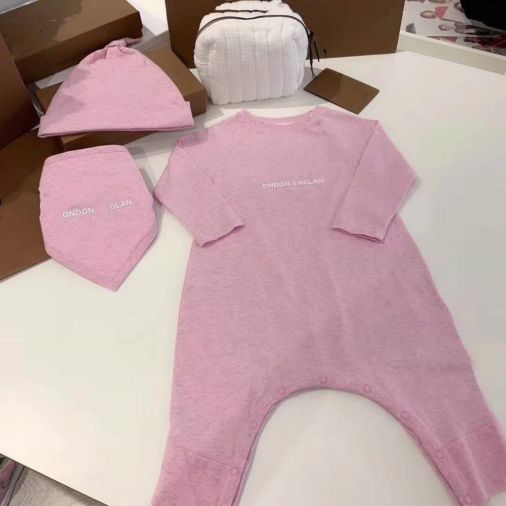 2020 Newborn Infant Baby Girls Boys Romper Jumpsuit Clothes Long Sleeve Outfits Letter Printed Brand Romper Clothing 3-24M