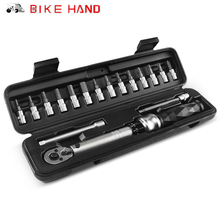 Bike Hand MTB 1 25 NM Ratchet Torque Wrench Kit Bicycle Repair Hex Key Tool Set Multi function Road Bike Wrench Allen Bit Tools