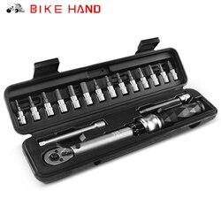 Bike Hand MTB 1-25 NM Ratchet Torque zestaw kluczy do naprawiania rowerów Hex kluczowe narzędzie zestaw wielofunkcyjny klucz rowerowy Allen Bit Tools