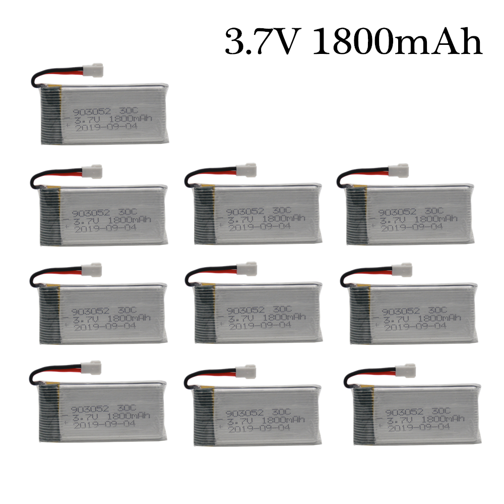 <font><b>3.7v</b></font> <font><b>1800mAh</b></font> Rechargeable <font><b>Battery</b></font> for KY601S SYMA X5SW X5 M18 H5P 903052 <font><b>3.7v</b></font> Lipo <font><b>battery</b></font> XH2.54 Plug 1pcs to 10PCS image
