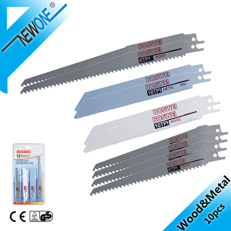 NEWONE 10pcs Reciprocating Saw Blades Saber Saw Handsaw Multi Saw Blade For Cutting Wood Metal PVC Tube Power Tools Accessories