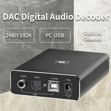 Headphone-Decoder DAC Audio Optical-Fiber HIFI Amplifiers Coaxial USB AYINO 24bit/192khz
