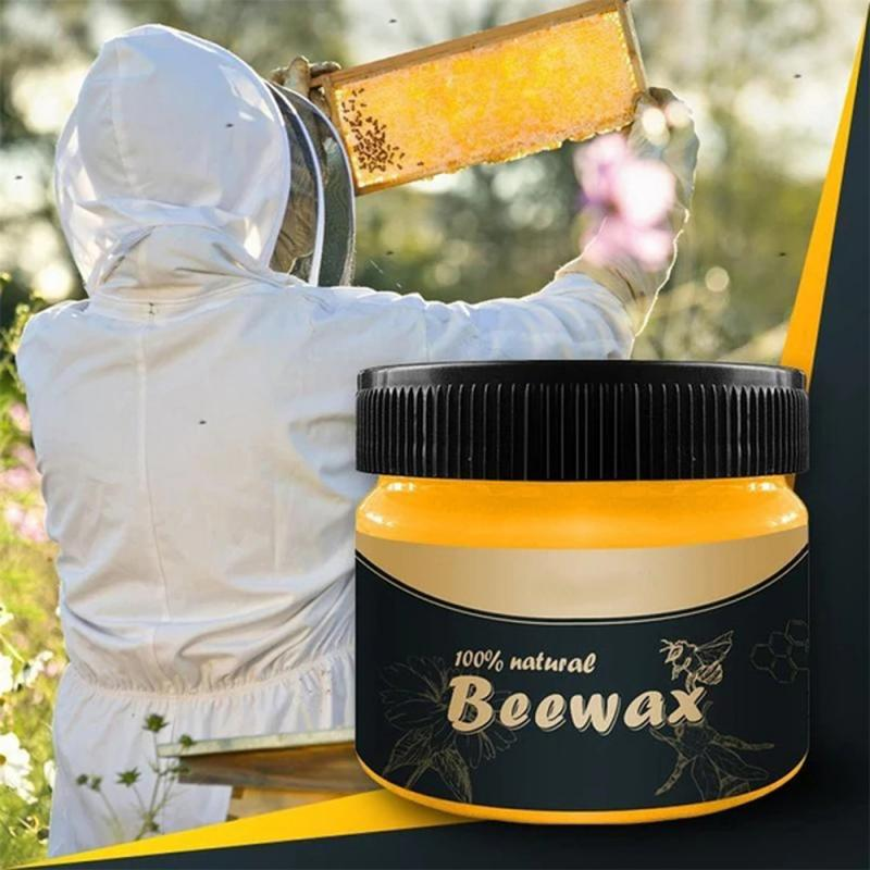 1/2/3PCS Natural Pure Wood Seasoning Beeswax Waterproof Solid Bee-wax Complete Solution Furniture Care Wood Wax Polisher Cleaner 1