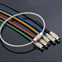 10 sztuk kolorowe EDC brelok karabińczyk ze stali nierdzewnej brelok narzędzia zewnętrzne drut breloki kabel liny blokada śrubowa breloczek