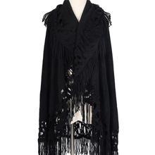 Women Winter Scarf Coat Cape tassel Shawl Wrap Poncho Bohemian Hooded Wool New Hoodie Big Size