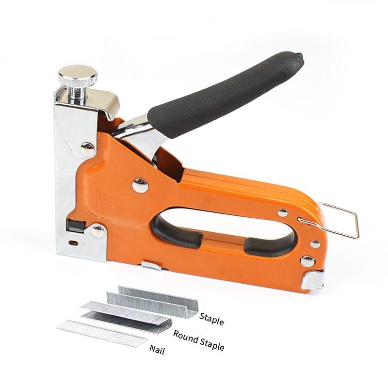 3-way Staple Gun For DIY Home Decoration Furniture Stapler Manual Nail Gun Woodworking Tacker Tools