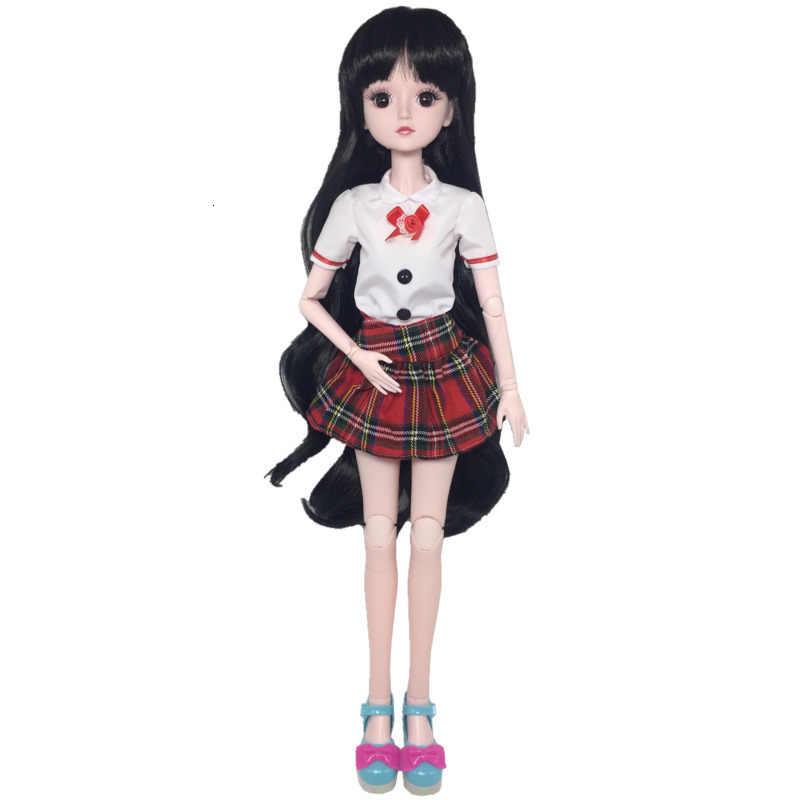 Moda 2019 mais novo vestido de boneca casual roupas artesanais terno para 60cm boneca acessórios melhores brinquedos para crianças