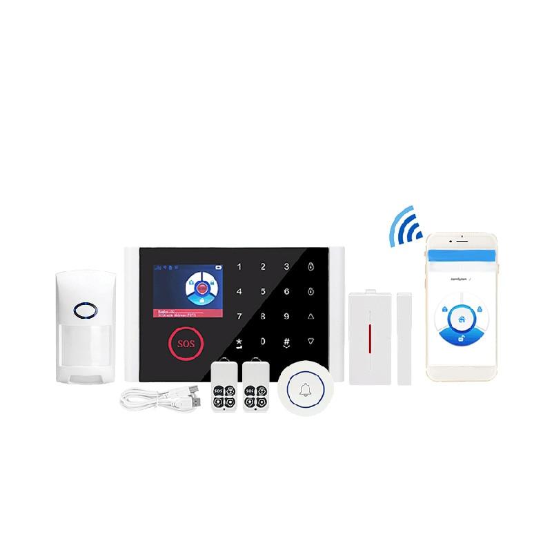 APP Control Wireless Home Security GSM Alarm System - WIFI GPRS DIY Home Burglar Security Ring Alarm System Motion Detector.Mult
