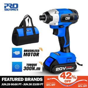 300Nm Electric Screwdriver Cordless Drill Brushless Motor Impact Driver Combo Kit 34pcs Drill Bits 20V Power Tool by PROSTORMER