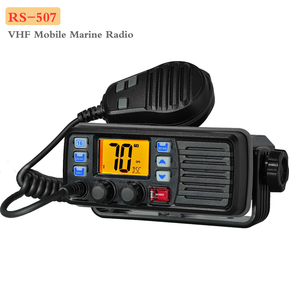 Recent Mobile Radio RS-507M VHF Marine Radio Float Class D Weather Channel With Alert 25W Walkie Talkie