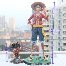 43cm anime uma peça gk estátua luffy smiley pvc 1/4 escala coleção figura brinquedos para o natal