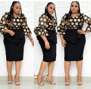 Image 2 - 2 Piece Set African Style Dresses For Women 2020 Africa Clothing Elegant Ankara Dresses Fashion African Dress For Lady