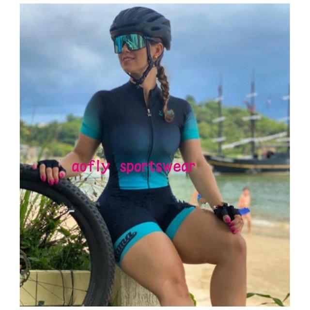 2021 xama pro feminino triathlon terno roupas ciclismo conjuntos de skinsuit macacão kits macaquinho ciclismo feminino gel maillot mujer roupas femininas com frete gratis  ciclismo feminino gel macacão triathlon 5
