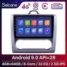 Seicane 2 DIN 9 Cal Android 9.0 nawigacja GPS ekran dotykowy czterordzeniowe Radio samochodowe dla 2004 2005 2006 2011 Ford Focus Exi AT