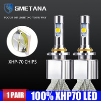 with XHP70.2 Chips H7 H4 Led Bulbs Lamps LED Car Headlight Copper Belt 9005 9006 hb4 9012 H8 H11 Canbus Error Free Fog Light
