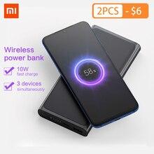 Xiaomi Wireless Power bank 10000mAh PLM11ZM USB Type C Mi Powerbank 10000 Qi Fast Charger Portable Charging Poverbank