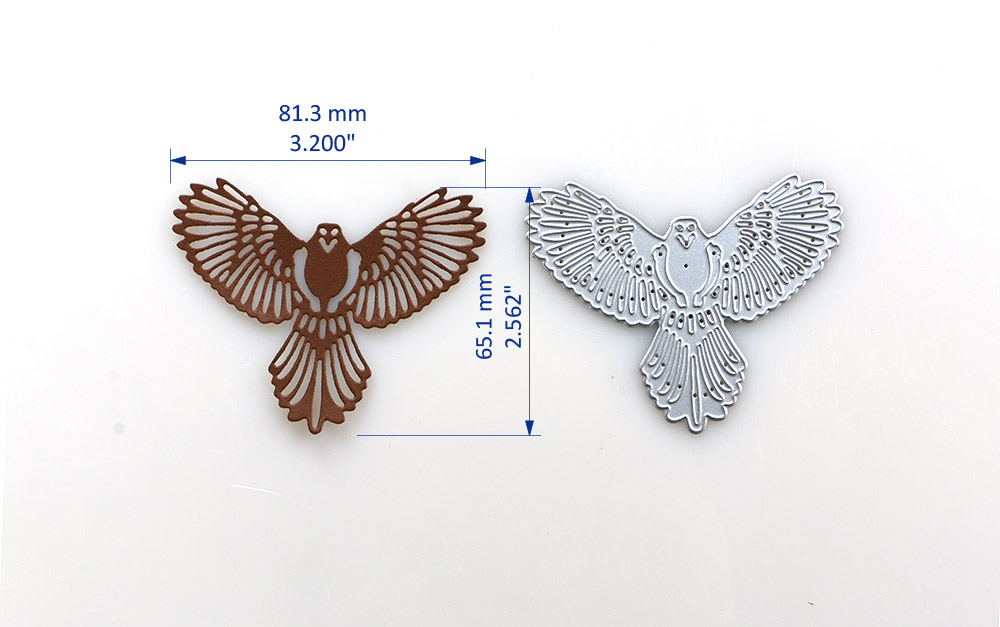Duofen Metal Cutting Dies 2019 New Cutout Eagle Stencil For Diy Papercraft Proje