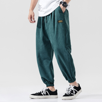 캐주얼 하렘 바지 남성 조깅 바지 남성 느슨한 바지 남성 중국어 번체 하라주쿠 2020 여름 옷